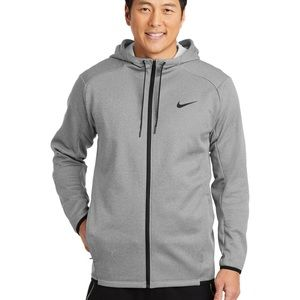 new • nike therma-fit textured fleece zip hoodie